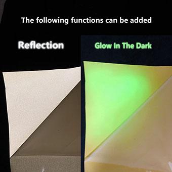 夜光反光硅胶刻字膜